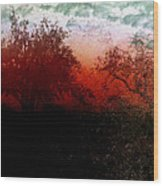 Dreamscape Sunset - Abstract Wood Print