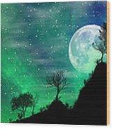 Dreamy Night Wood Print
