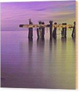 Dreamy Pier Wood Print