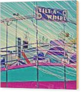 Dreamy Tilt-a-whirl Carnival Ride Wood Print