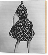 Dress By Pauline Trigere. Short Wood Print