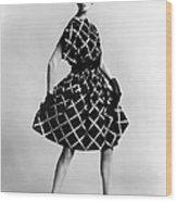 Dress By Pauline Trigere. Short Wood Print