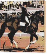 Dressage Competition Wood Print