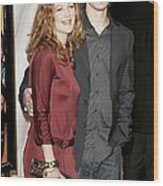 Drew Barrymore Wearing A Gucci Dress Wood Print by Everett