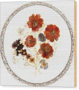 Dried Flower Art Wood Print
