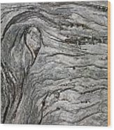 Driftwood Swirls 5 Wood Print