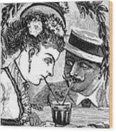 Drinking, 1875 Wood Print