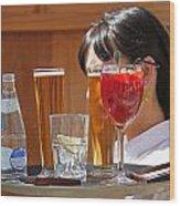 Drinks Sir Wood Print