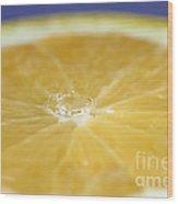 Drip Over An Orange Wood Print