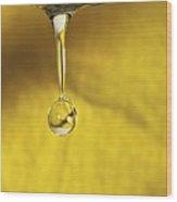 Dripping Tap Wood Print