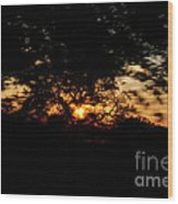 Drive By Sunset Wood Print
