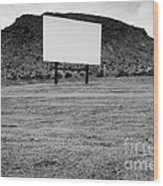 Drive In Movie Theater  Wood Print