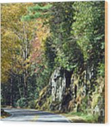 Drive In The Mountains Wood Print