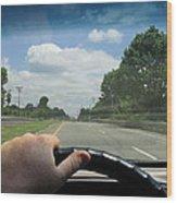 Drivers Window Wood Print