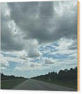 Driving Through The Clouds Wood Print