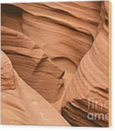 Drowning In The Sand - Antelope Canyon Az Wood Print