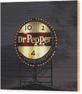 Dr.pepper Sign Wood Print