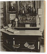 Drugstore Soda Fountain - New Orleans Wood Print