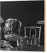 Drummer Set Wood Print