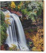 Dry Falls Or Upper Cullasaja Falls Wood Print