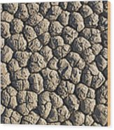 Dry Mud Patterns On The Racetrack Wood Print