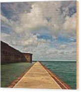 Dry Tortugas Sea Wall Wood Print by Patrick  Flynn
