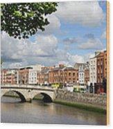 Dublin Cityscape Wood Print