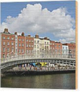 Dublin Scenery Wood Print