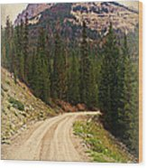 Dubois Mountain Road Wood Print