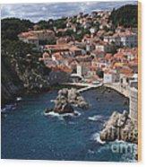 Dubrovnik By The Sea Wood Print