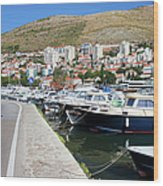 Dubrovnik Cityscape And Harbor Wood Print