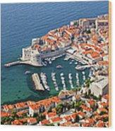Dubrovnik Old City Aerial View Wood Print