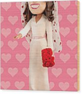 Duchess Of Cambridge Wood Print by Louisa Houchen