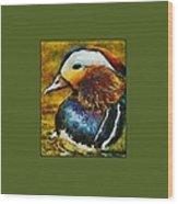 Duck Waddle Quack Wood Print