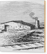 Dugout Home, 1871 Wood Print