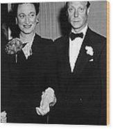 Duke And Duchess Of Windsor Wood Print