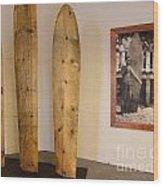 Duke Kahanamoku Surfboards Wood Print
