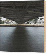 Duluth Lift Bridge Under 2 Wood Print
