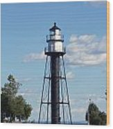 Duluth Mn Bridge Lighthouse Wood Print