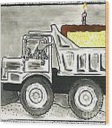 Dump Truck Birthday Wood Print