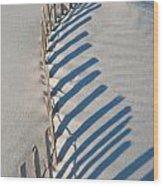 Dune Fence Graphic Wood Print