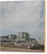 Dungeness Power Station Wood Print