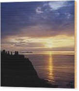 Dunluce Castle At Sunset, Co Antrim Wood Print