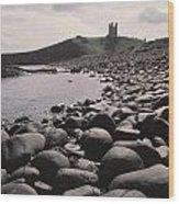 Dunstanburgh Castle Wood Print