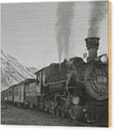 Durango Silverton Bw Painterly 2 Wood Print