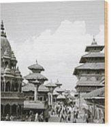 Durbar Square Patan Wood Print