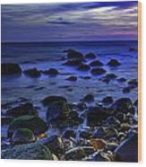 Dusk At Montauk Point Wood Print