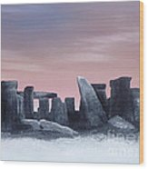 Dusk On The Winter Solstice At Stonehenge 1877 Wood Print