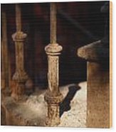 Dusk Rail Wood Print