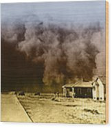 Dust Storm, 1930s Wood Print by Omikron
